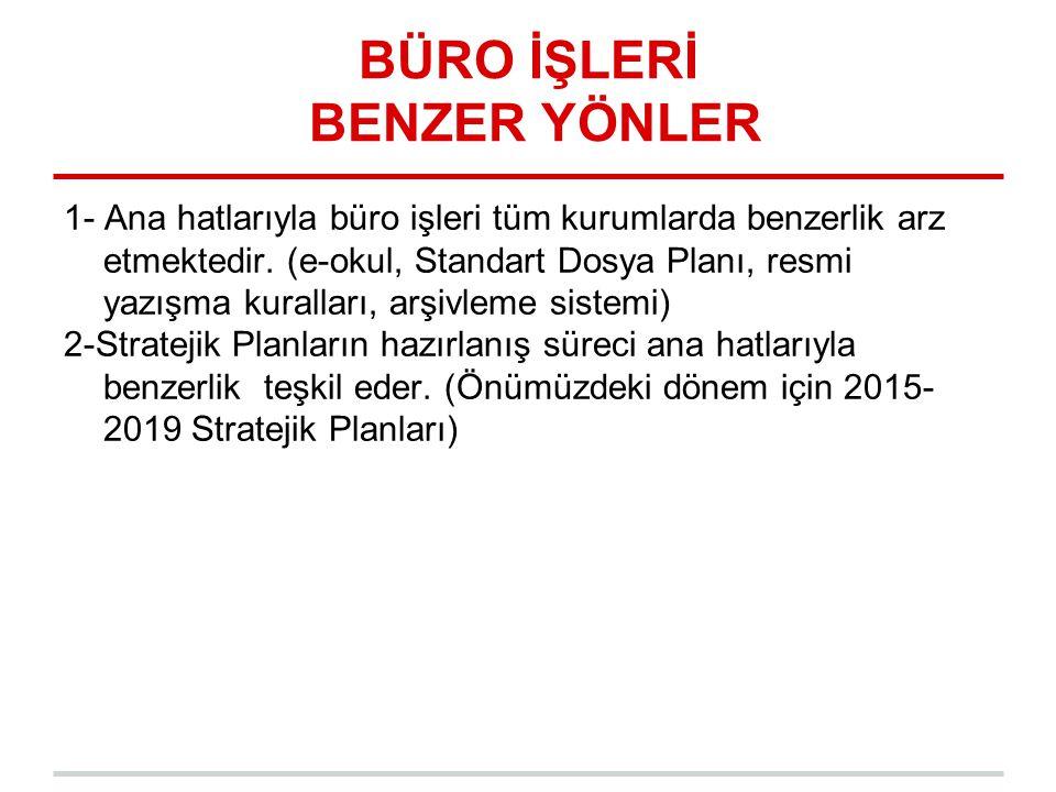 BÜRO İŞLERİ BENZER YÖNLER