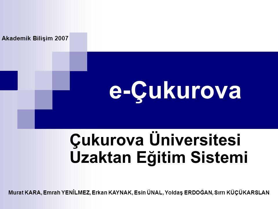 Çukurova Üniversitesi Uzaktan Eğitim Sistemi