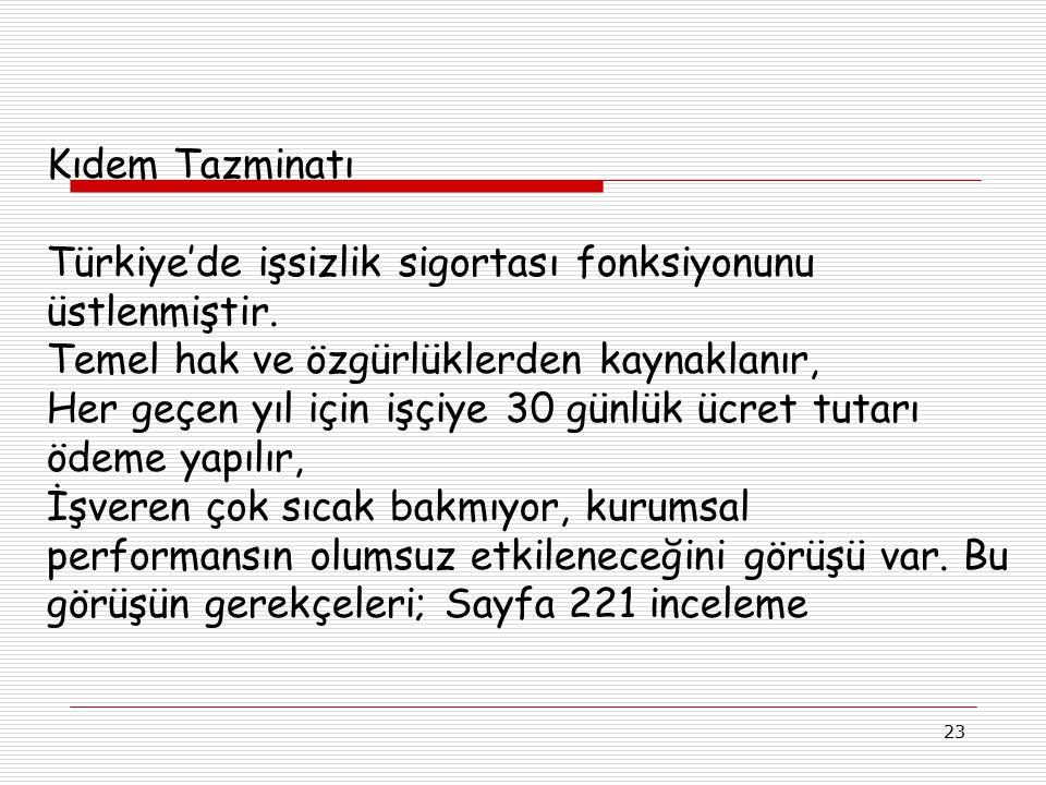 Türkiye'de işsizlik sigortası fonksiyonunu üstlenmiştir.