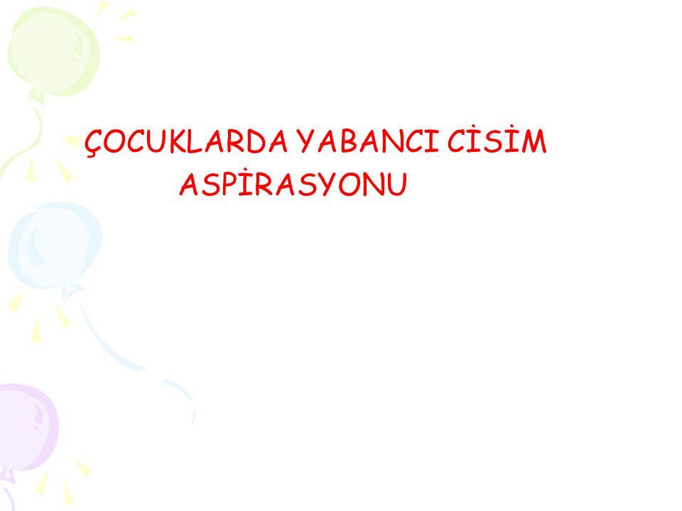 ÇOCUKLARDA YABANCI CİSİM ASPİRASYONU