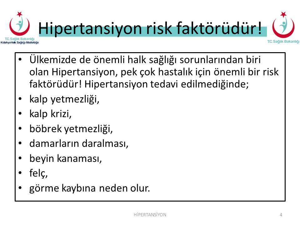Hipertansiyon risk faktörüdür!