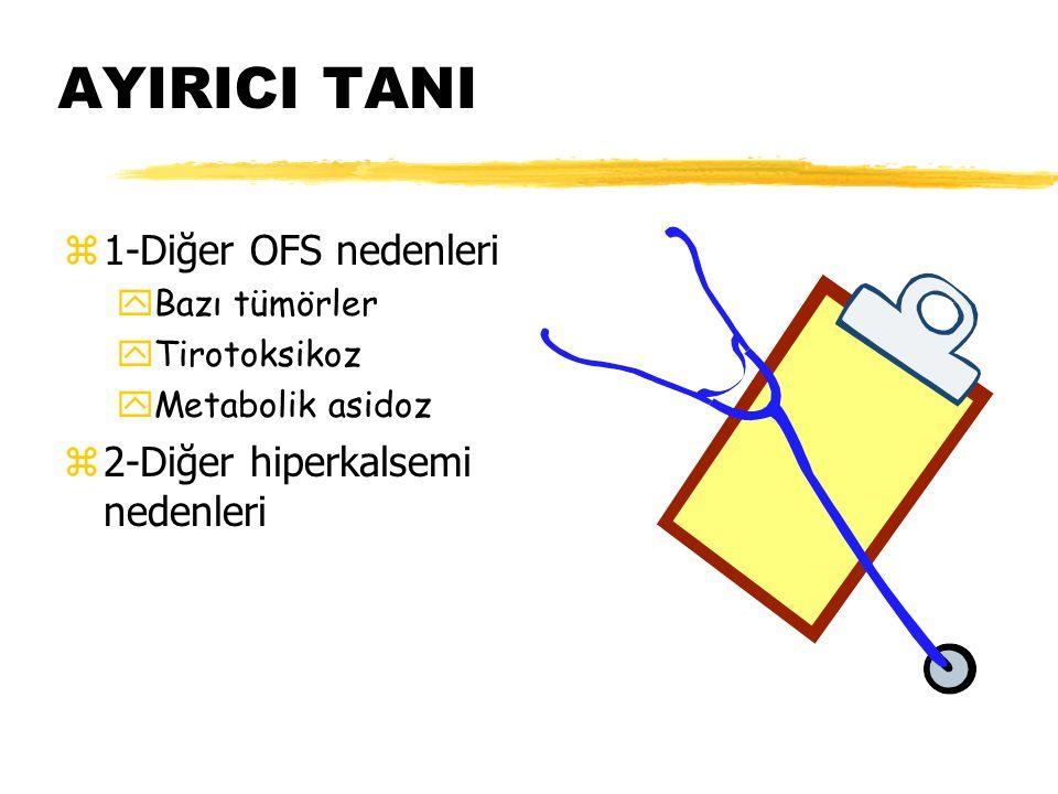 AYIRICI TANI 1-Diğer OFS nedenleri 2-Diğer hiperkalsemi nedenleri