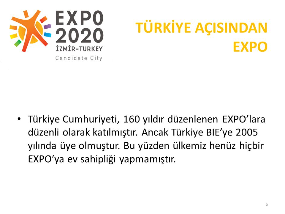 TÜRKİYE AÇISINDAN EXPO