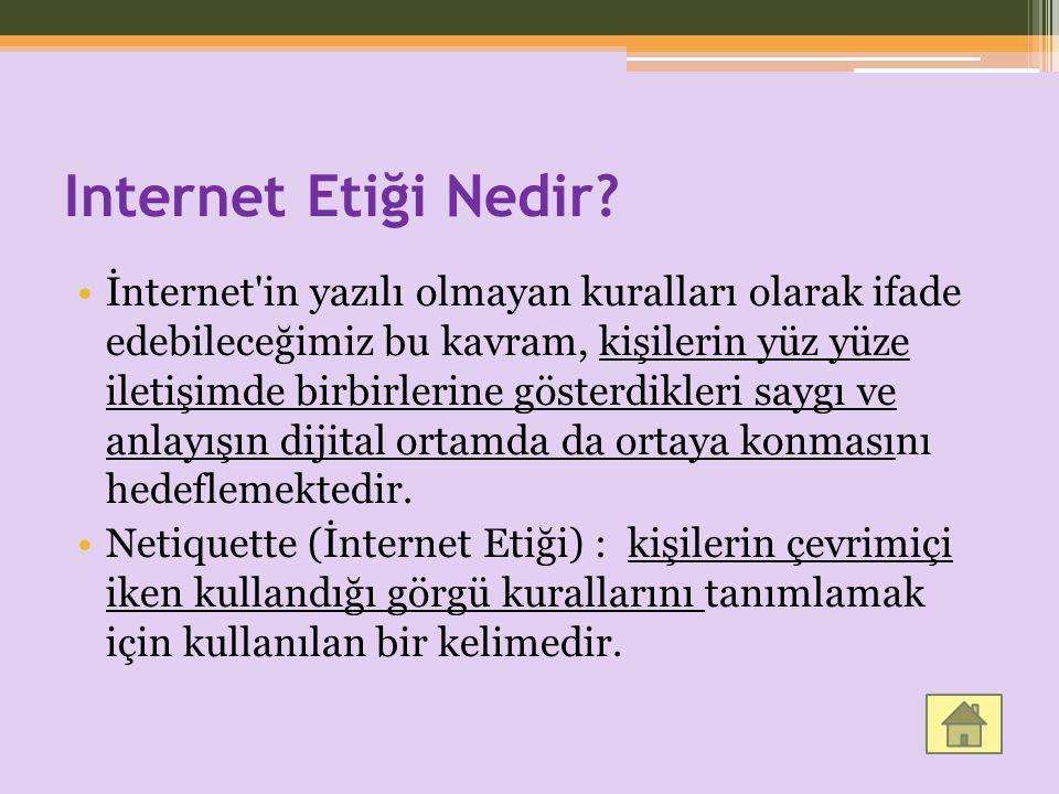 Internet Etiği Nedir