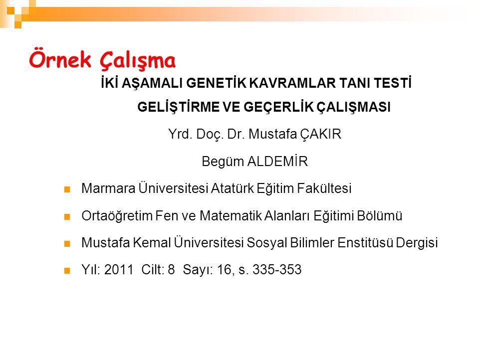 Yrd. Doç. Dr. Mustafa ÇAKIR