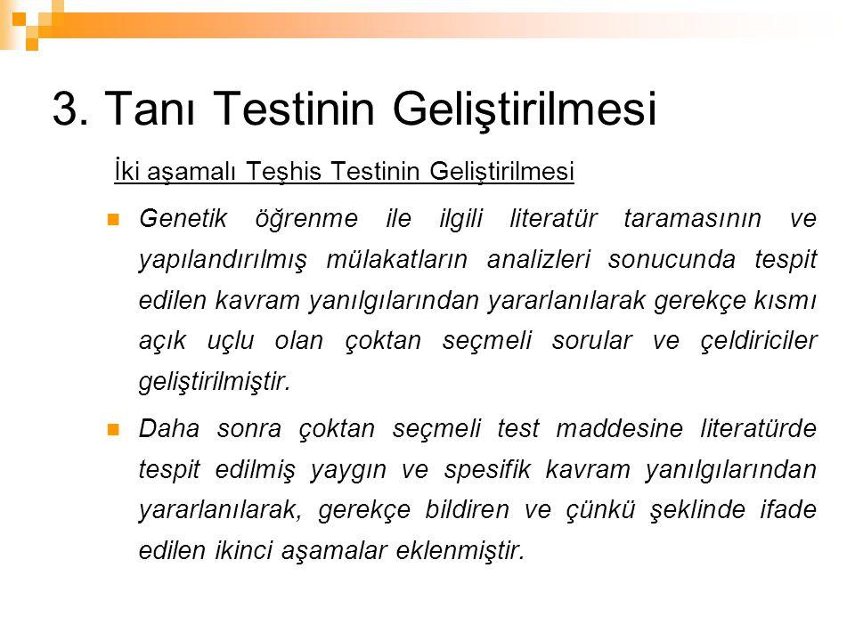 3. Tanı Testinin Geliştirilmesi