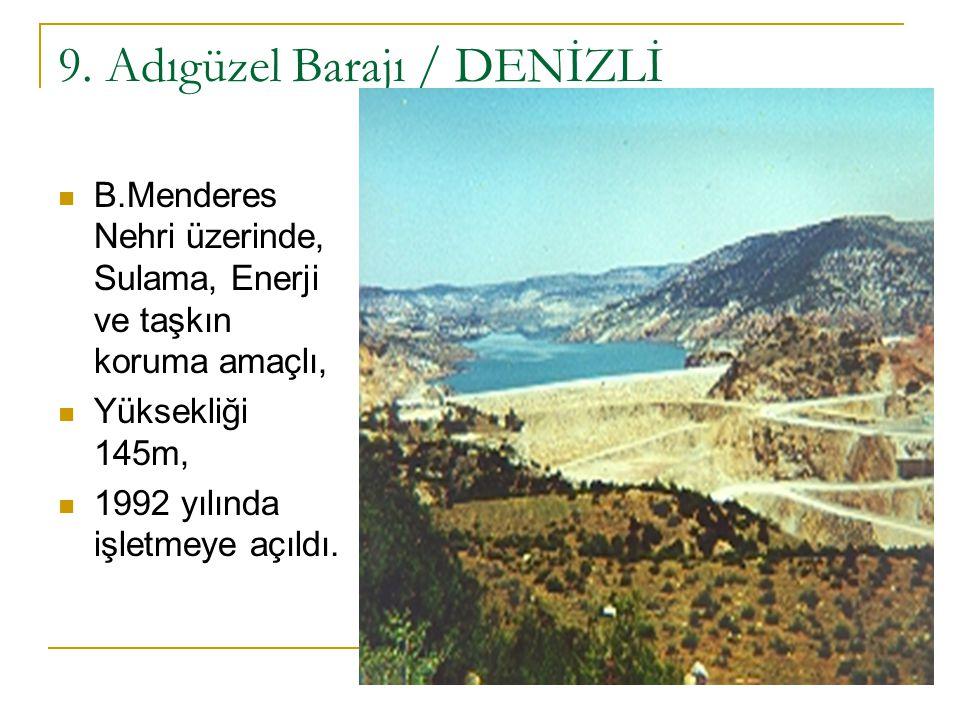 9. Adıgüzel Barajı / DENİZLİ