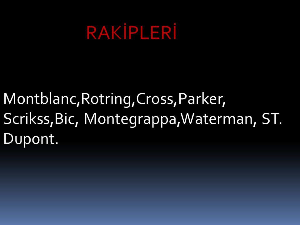 RAKİPLERİ Montblanc,Rotring,Cross,Parker, Scrikss,Bic, Montegrappa,Waterman, ST. Dupont.