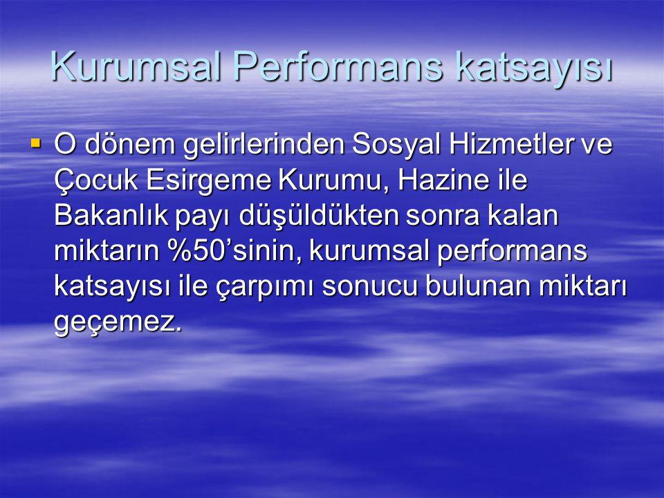 Kurumsal Performans katsayısı