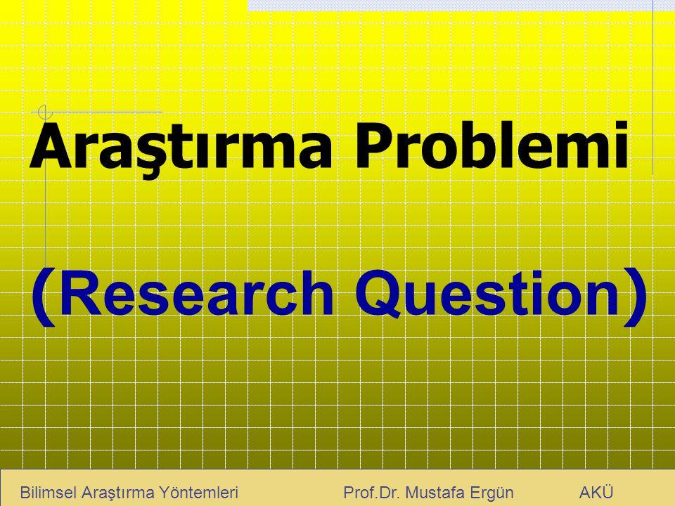 Araştırma Problemi (Research Question)