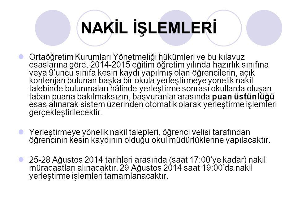 NAKİL İŞLEMLERİ
