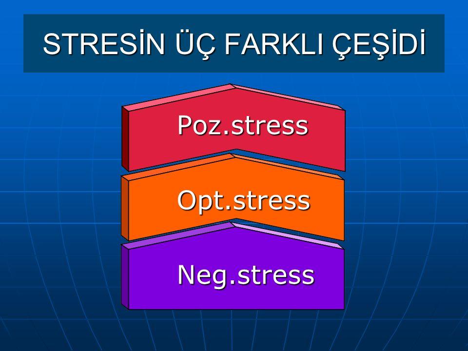STRESİN ÜÇ FARKLI ÇEŞİDİ