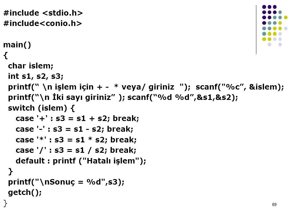 #include <stdio. h> #include<conio