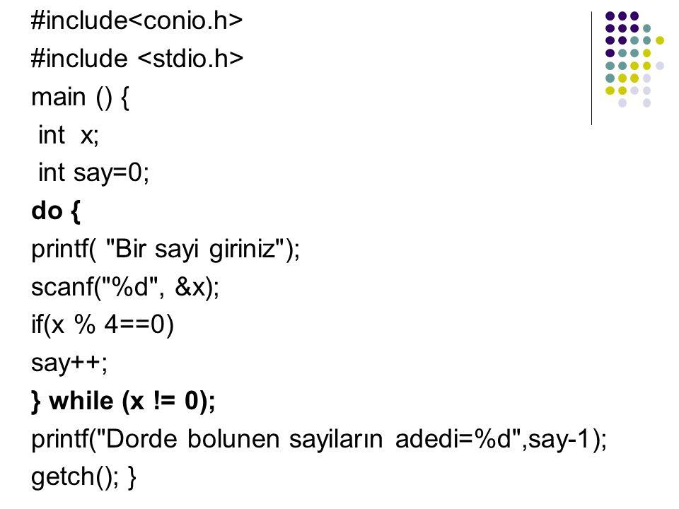 #include<conio.h>