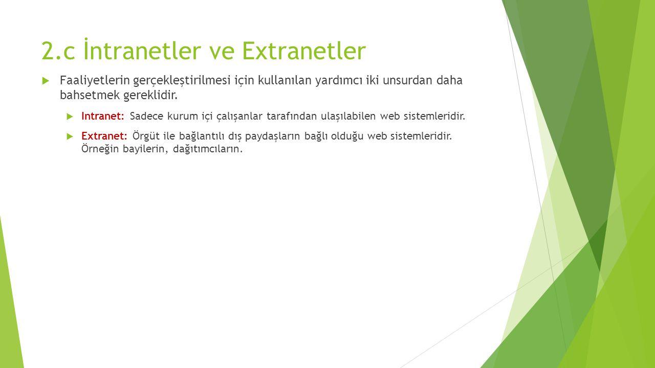 2.c İntranetler ve Extranetler