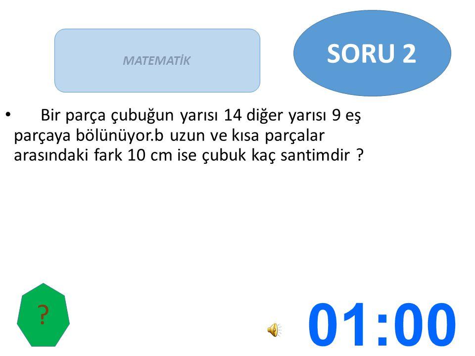 SORU 2 MATEMATİK.