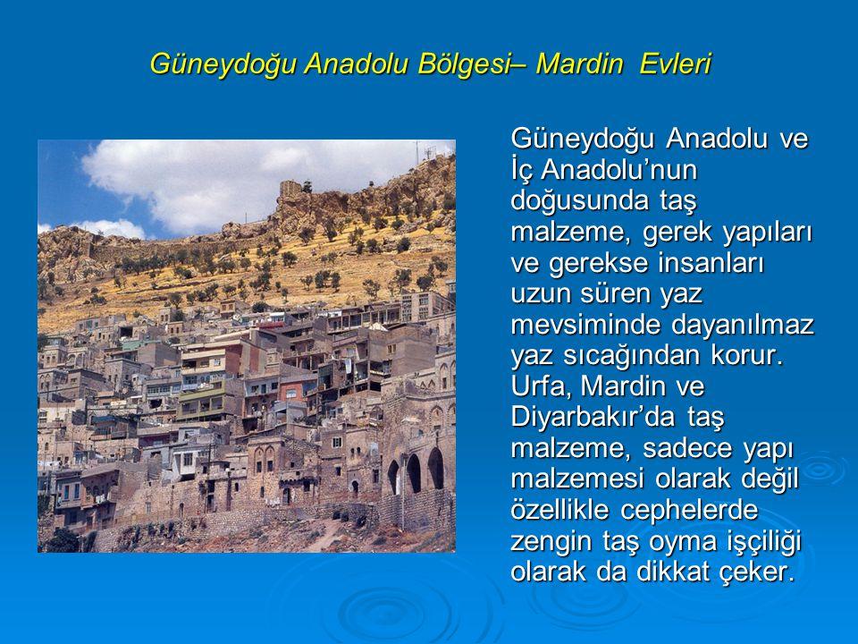 Güneydoğu Anadolu Bölgesi– Mardin Evleri