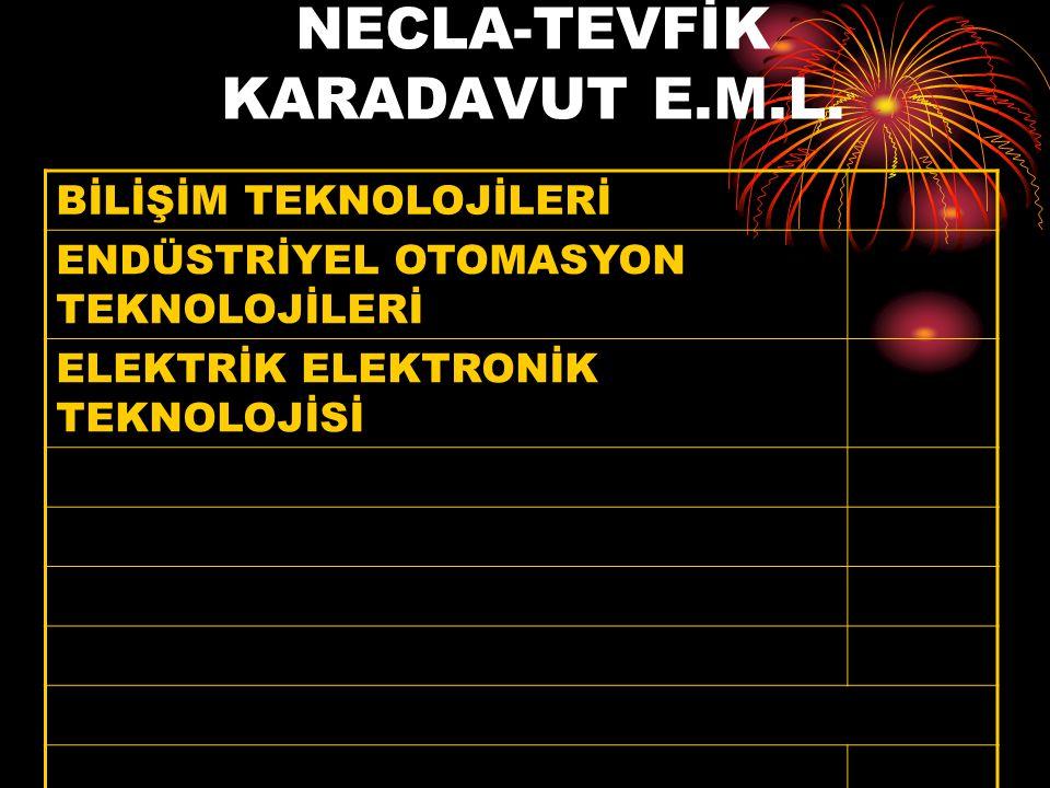 NECLA-TEVFİK KARADAVUT E.M.L.