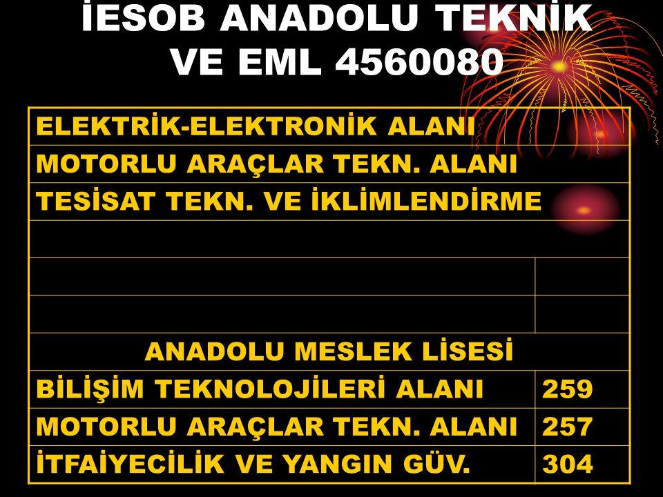 İESOB ANADOLU TEKNİK VE EML 4560080