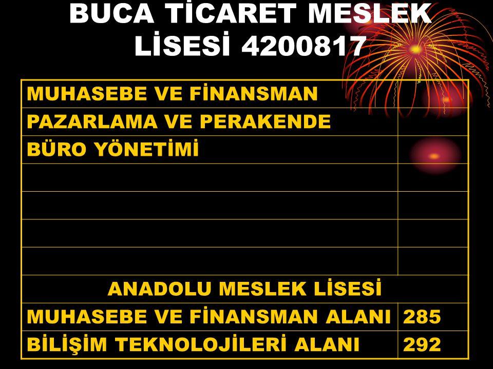 BUCA TİCARET MESLEK LİSESİ 4200817