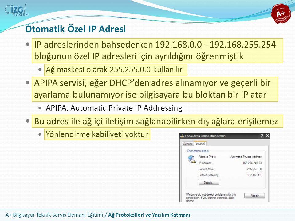 Otomatik Özel IP Adresi