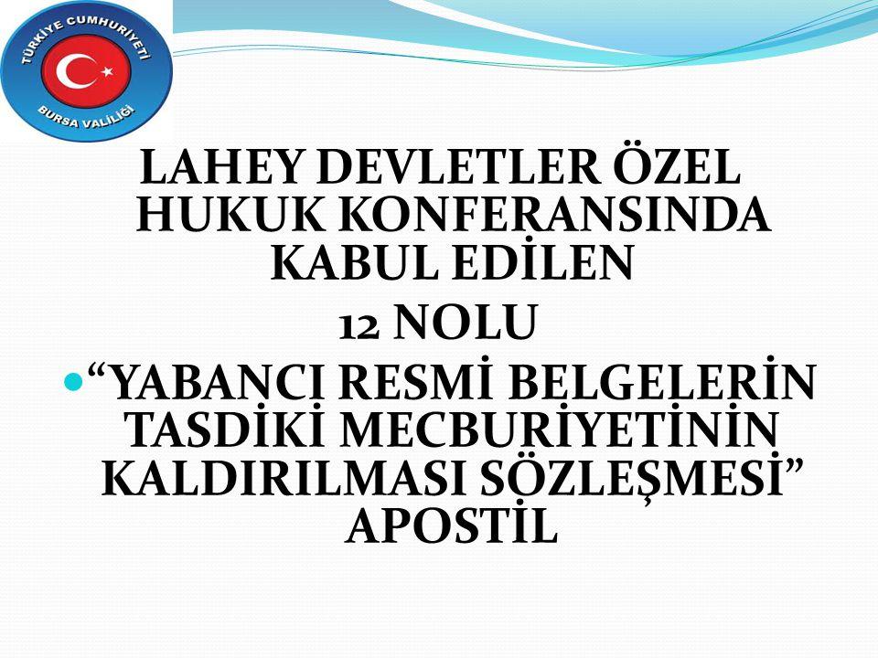 LAHEY DEVLETLER ÖZEL HUKUK KONFERANSINDA KABUL EDİLEN