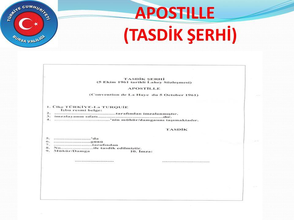 APOSTILLE (TASDİK ŞERHİ)