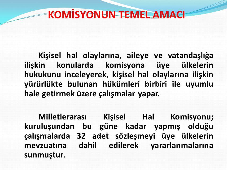 KOMİSYONUN TEMEL AMACI