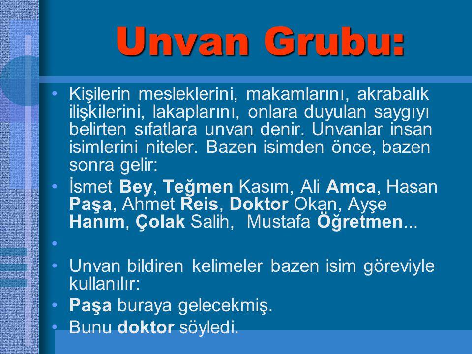 Unvan Grubu: