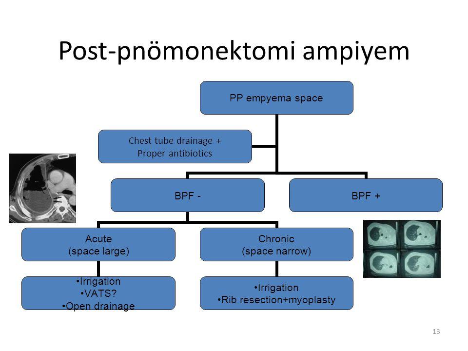 Post-pnömonektomi ampiyem