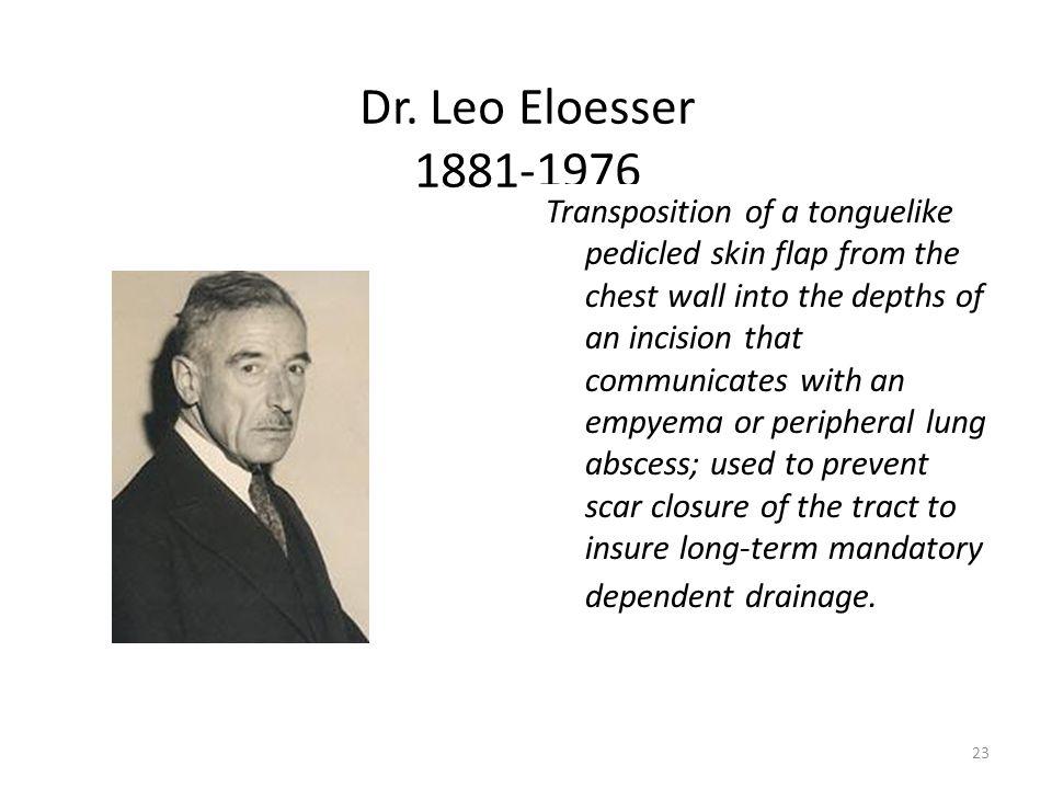 Dr. Leo Eloesser 1881-1976