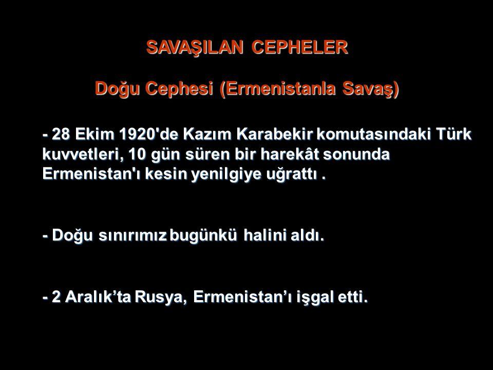 Doğu Cephesi (Ermenistanla Savaş)