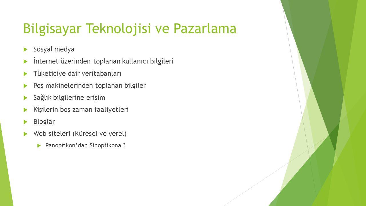 Bilgisayar Teknolojisi ve Pazarlama
