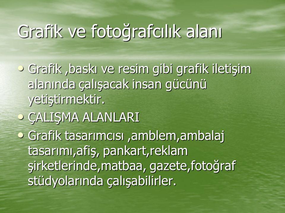Grafik ve fotoğrafcılık alanı