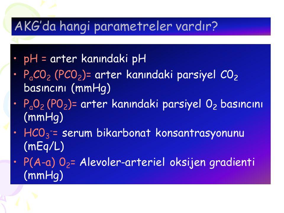 AKG'da hangi parametreler vardır
