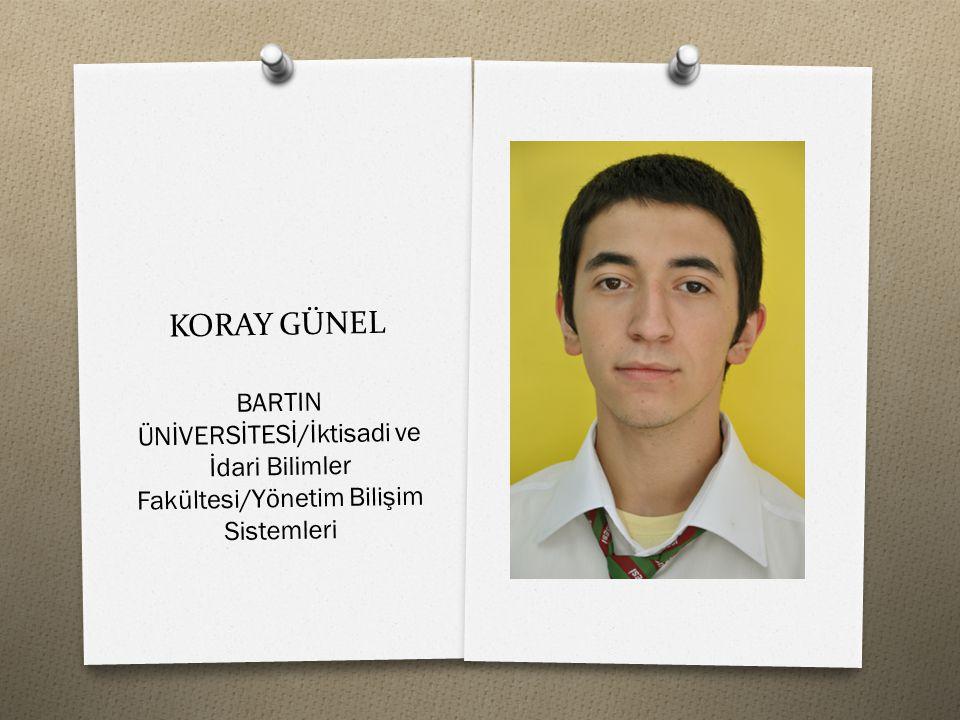 KORAY GÜNEL BARTIN ÜNİVERSİTESİ/İktisadi ve İdari Bilimler Fakültesi/Yönetim Bilişim Sistemleri