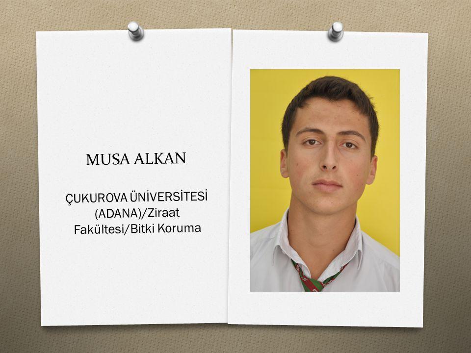 ÇUKUROVA ÜNİVERSİTESİ (ADANA)/Ziraat Fakültesi/Bitki Koruma