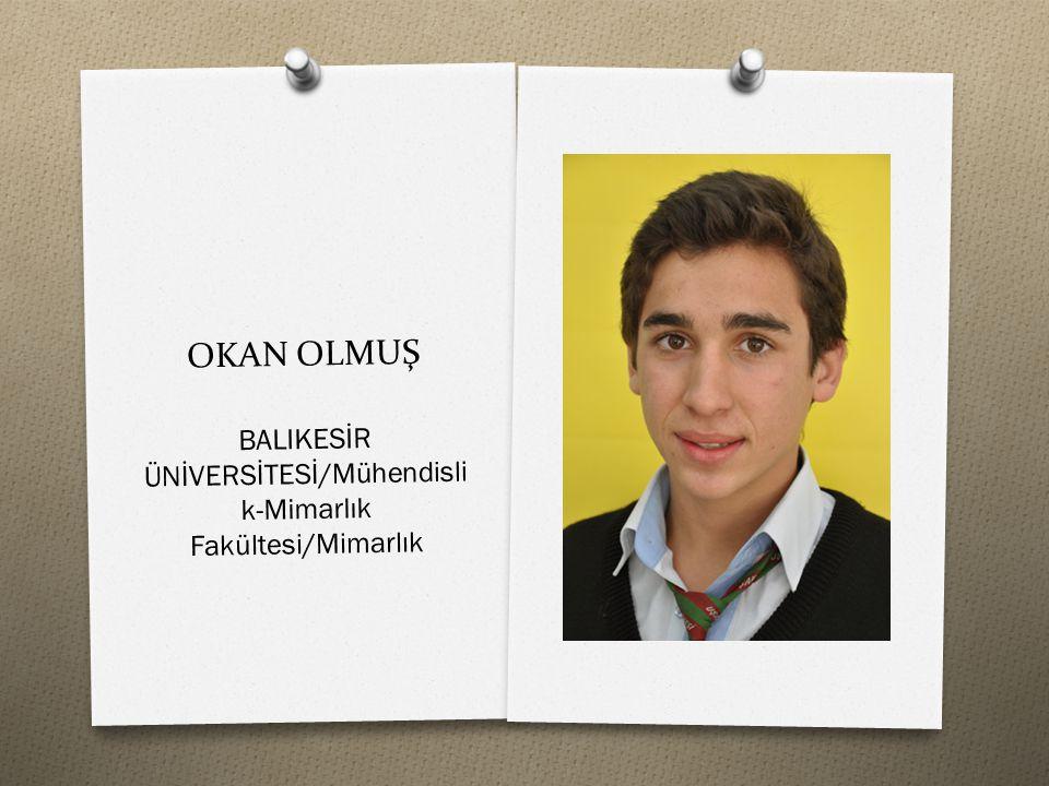 BALIKESİR ÜNİVERSİTESİ/Mühendislik-Mimarlık Fakültesi/Mimarlık