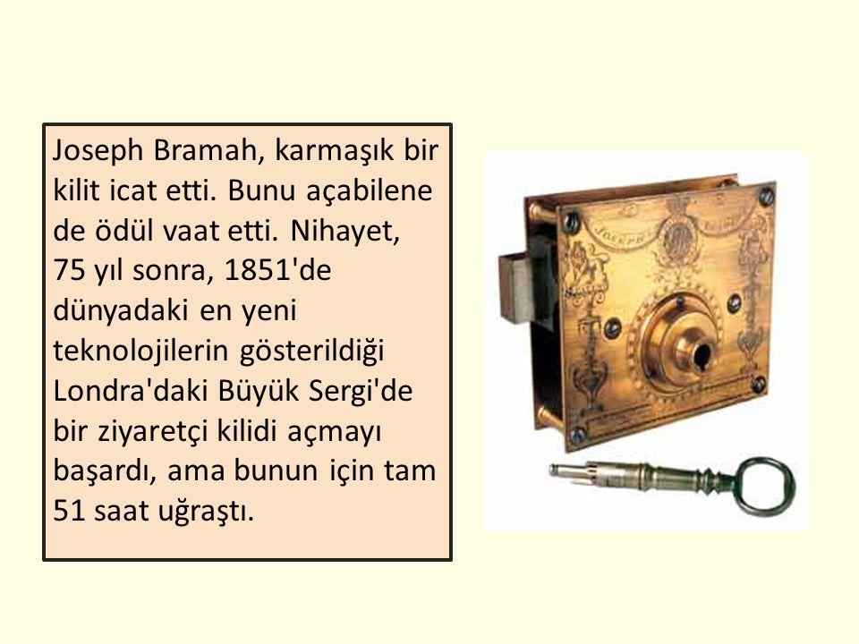 Joseph Bramah, karmaşık bir kilit icat etti