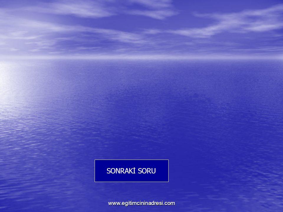 SONRAKİ SORU www.egitimcininadresi.com