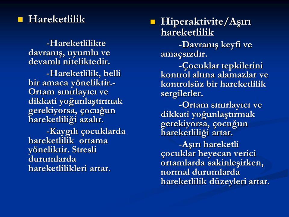 Hiperaktivite/Aşırı hareketlilik