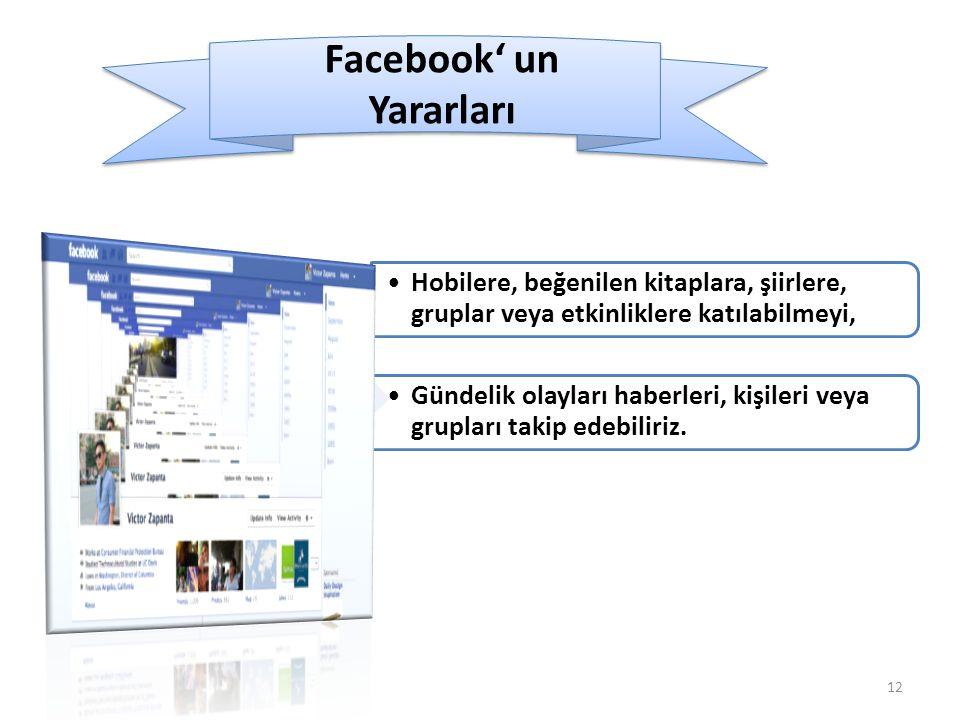 Facebook' un Yararları