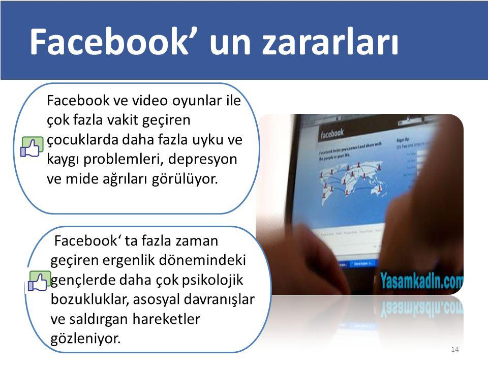Facebook' un zararları