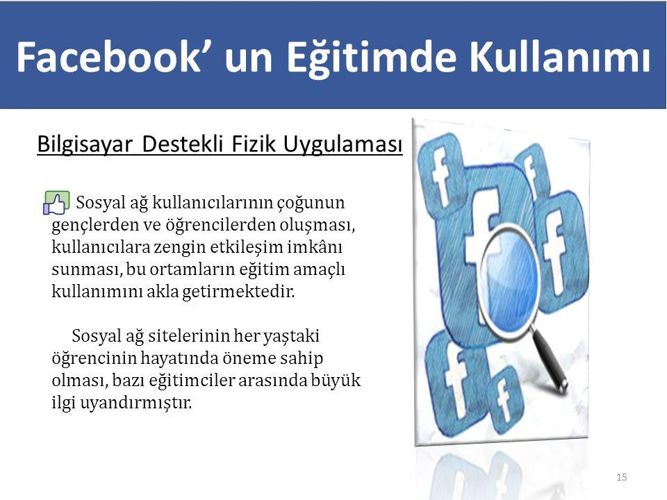 Facebook' un Eğitimde Kullanımı