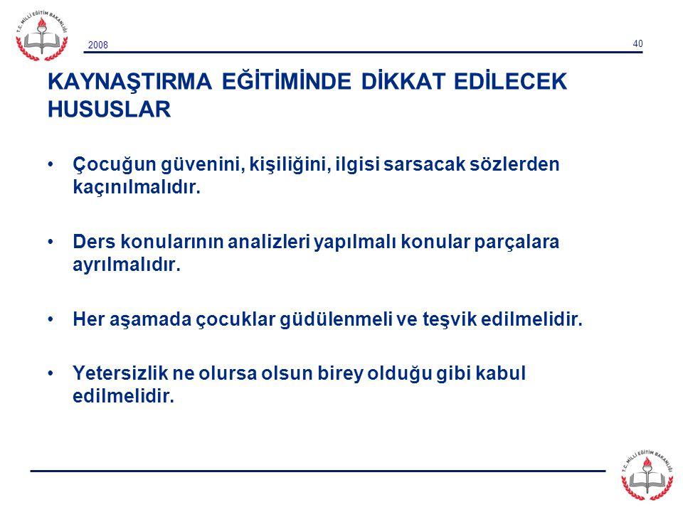 KAYNAŞTIRMA EĞİTİMİNDE DİKKAT EDİLECEK HUSUSLAR