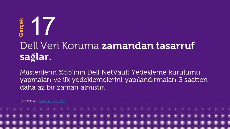 17 Dell Veri Koruma zamandan tasarruf sağlar.