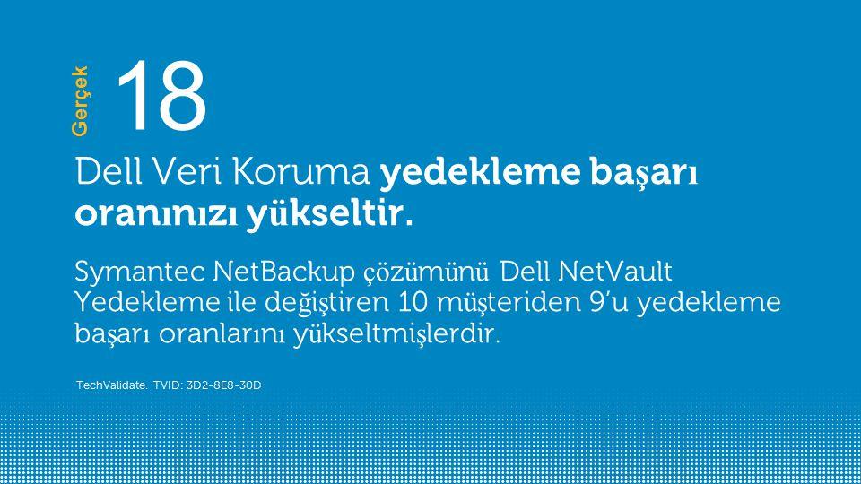 18 Dell Veri Koruma yedekleme başarı oranınızı yükseltir.