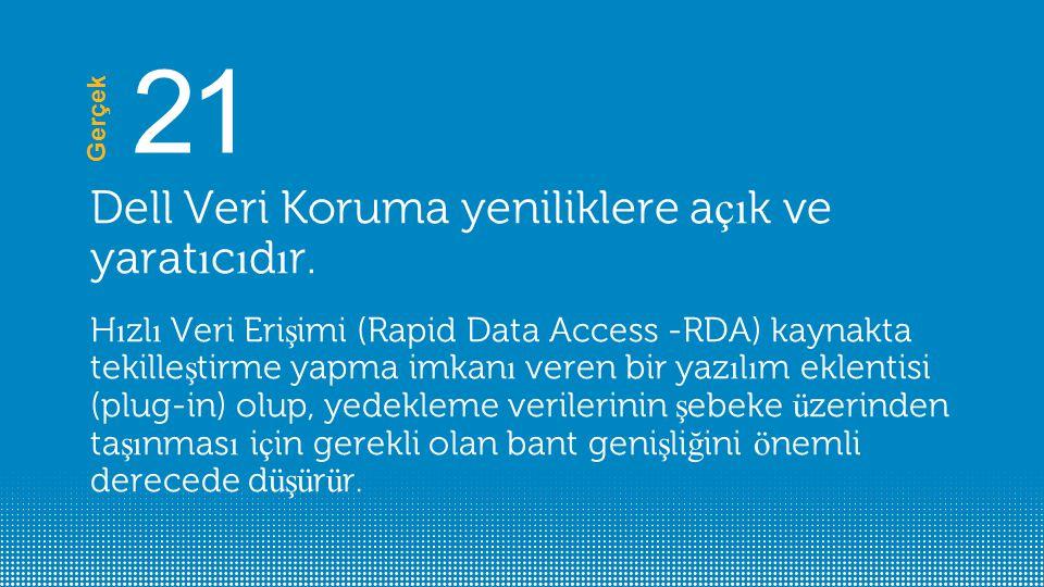 21 Dell Veri Koruma yeniliklere açık ve yaratıcıdır.