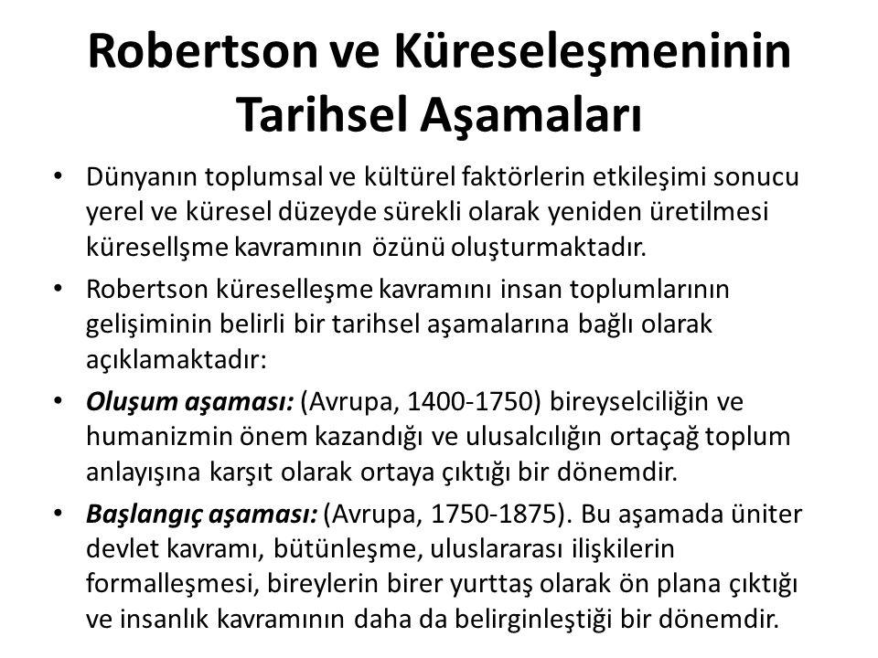 Robertson ve Küreseleşmeninin Tarihsel Aşamaları