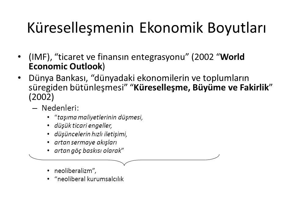 Küreselleşmenin Ekonomik Boyutları